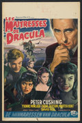 "Movie Posters:Horror, Brides of Dracula (Universal International, 1960). Autographed Belgian Poster(13.75"" X 21""). Horror.. ..."