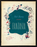"Movie Posters:Animated, Fantasia (Walt Disney, 1940). Program (Multiple Pages, 9.75"" X12""). Animated.. ..."