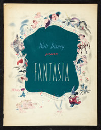 "Fantasia (Walt Disney, 1940). Program (Multiple Pages, 9.75"" X 12""). Animated"
