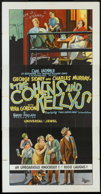 """The Cohens and Kellys (Universal, 1926). Three Sheet (41"""" X 81""""). Comedy"""