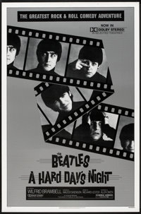 "A Hard Day's Night (Universal, R-1982). One Sheet (27"" X 41""). Rock and Roll"