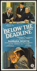 """Movie Posters:Crime, Below the Deadline (Chesterfield, 1929). Three Sheet (41"""" X 81"""").Crime.. ..."""