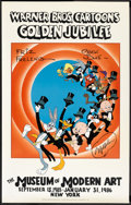 "Movie Posters:Animated, Warner Brothers Cartoons Golden Jubilee (Museum of Modern Art, 1985). Poster (24"" X 38""). Animated.. ..."