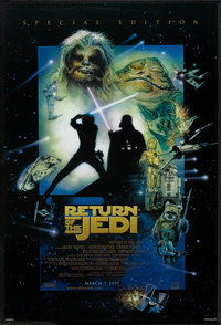 """Return of the Jedi (20th Century Fox, R-1997). One Sheet (27"""" X 40"""") DS Advance Style D. Science Fiction"""