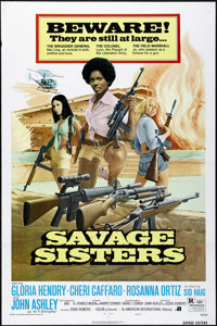 "Savage Sisters (American International, 1974). One Sheet (27"" X 41"") Style B. Bad Girl"