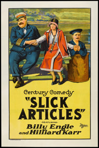 "Slick Articles (Universal, 1925). One Sheet (27"" X 41""). Comedy"