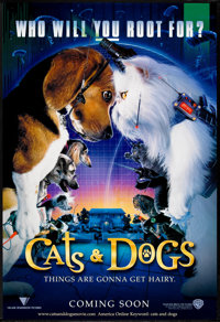 """Cats and Dogs (Warner Brothers, 2001). One Sheet (27"""" X 40"""") DS Advance. Family"""