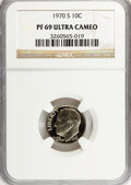 Proof Roosevelt Dimes: , 1970-S 10C PR69 Ultra Cameo NGC. NGC Census: (31/0). PCGSPopulation (172/0). Numismedia Wsl. Price for NGC/PCGS coin in P...