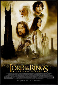 """The Lord of the Rings: The Two Towers (New Line, 2002). One Sheet (27"""" X 40"""") SS Style A. Fantasy"""