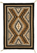 American Indian Art:Weavings, A NAVAJO REGIONAL RUG . Crystal. c. 1950...