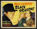 "Movie Posters:Mystery, Black Dragons (Monogram, 1942). Half Sheet (22"" X 28""). Mystery....."