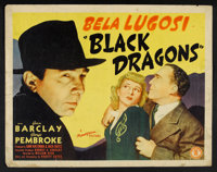 "Black Dragons (Monogram, 1942). Half Sheet (22"" X 28""). Mystery"