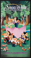"Movie Posters:Animated, Snow White and the Seven Dwarfs (Buena Vista, R-1980s). AustralianDaybill (13.25"" X 25.5""). Animated.. ..."