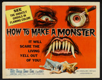"How to Make a Monster (American International, 1958). Half Sheet (22"" X 28""). Horror"