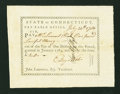 Colonial Notes:Connecticut, State of Connecticut Pay Table Office July 14, 1784 ExtremelyFine-About New....