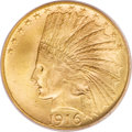 Indian Eagles, 1916-S $10 MS66 PCGS....