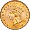 Gold Dollars, 1889 G$1 MS67 PCGS....