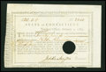 Colonial Notes:Connecticut, State of Connecticut Treasury Office February 1, 1789 ExtremelyFine....