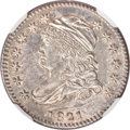 Bust Dimes, 1821 10C Small Date MS63 NGC....
