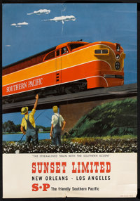 "Sunset Limited Railroad Poster (Southern Pacific, 1950s). Poster (16"" X 23""). Miscellaneous"