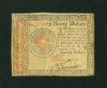Colonial Notes:Continental Congress Issues, Continental Currency January 14, 1779 $20 Very Fine....