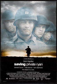 """Saving Private Ryan Lot (Dreamworks, 1998). One Sheets (2) (27"""" X 40"""") SS and DS Regular and Advance Styles. W..."""