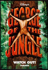 "George of the Jungle Lot (Buena Vista, 1997). One Sheets (2) (27"" X 40"") DS Advances. Comedy. ... (Total: 2 It..."