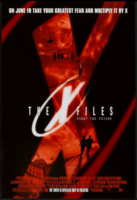 "The X Files (20th Century Fox, 1998). One Sheets (3) (27"" X 41"") DS Advance, DS Regular, and SS Advance. Scien..."