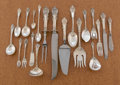 Silver Flatware, American:Wallace , AN AMERICAN SILVER FLATWARE SERVICE. R. Wallace & SonsManufacturing Co., Wallingford, Connecticut, circa 1936. Marks:WAL... (Total: 80 Items)