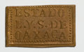 Mexico, Mexico: Revolutionary - Oaxaca - Rectangular 1 & 3 Centavos1915,... (Total: 2 coins)