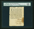 Colonial Notes:New York, New York May 31, 1709 10s PMG Fine 12 NET....