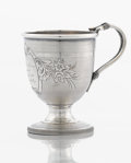 Silver Holloware, American:Cups, AN AMERICAN COIN SILVER CUP. John L. Westervelt, Newburgh, NewYork, circa 1855. Marks: J.L.W., B. MARSH ALBANY. 3-7/8 x...
