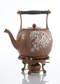Silver Holloware, American:Hot Water Kettles , AN AMERICAN COPPER AND MIXED METAL KETTLE ON STAND. GorhamManufacturing Co., Providence, Rhode Island, circa 1880. Marks: ...(Total: 2 Items)