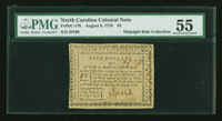 North Carolina August 8, 1778 $5 PMG About Uncirculated 55