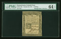 Colonial Notes:Pennsylvania, Pennsylvania October 25, 1775 1s PMG Choice Uncirculated 64 EPQ....