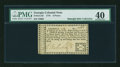 Colonial Notes:Georgia, Georgia 1776 6d PMG Extremely Fine 40....