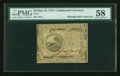 Colonial Notes:Continental Congress Issues, Continental Currency May 10, 1775 $6 PMG Choice About Unc 58....