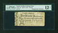 Colonial Notes:North Carolina, North Carolina April 4, 1748 £3 PMG Fine 12 NET....