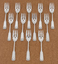 Silver Flatware, American:Other , A SET OF TWELVE AMERICAN SILVER SALAD FORKS. Shreve, Crump &Low Co., Boston, Massachusetts, circa 1880. Marks: S.C.&L.C... (Total: 12 Items)
