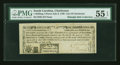 Colonial Notes:South Carolina, South Carolina July 6, 1789 1s3d City of Charleston PMG AboutUncirculated 55 EPQ....