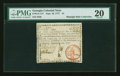 Colonial Notes:Georgia, Georgia September 10, 1777 $1 PMG Very Fine 20....