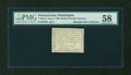 Colonial Notes:Pennsylvania, Pennsylvania August 6, 1789 Bank of North America $1/90 PMG ChoiceAbout Unc 58....