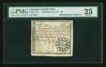 Colonial Notes:Georgia, Georgia September 10, 1777 $8 PMG Very Fine 25....