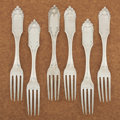 Silver Flatware, American:Other , A SET OF SIX AMERICAN COIN SILVER DINNER FORKS. Gale & Hayden,New York, New York, 1848. Marks: G & H, G & H (inlozeng... (Total: 6 Items)