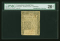 Colonial Notes:Connecticut, Connecticut October 10, 1771 20s PMG Very Fine 20 NET....