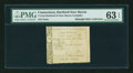 Colonial Notes:Connecticut, Hartford & New Haven Turnpike 1799 4¢ PMG Choice Uncirculated63 EPQ....