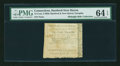 Colonial Notes:Connecticut, Hartford & New Haven Turnpike 1799 6¢ 3 mills PMG Choice Uncirculated 64 EPQ....
