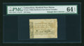 Colonial Notes:Connecticut, Hartford & New Haven Turnpike 1799 12¢ 5 mills PMG ChoiceUncirculated 64 EPQ....