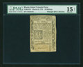 Colonial Notes:Rhode Island, Rhode Island March 18, 1776 10s PMG Choice Fine 15 NET....