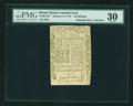 Colonial Notes:Rhode Island, Rhode Island January 15, 1776 30s PMG Very Fine 30....